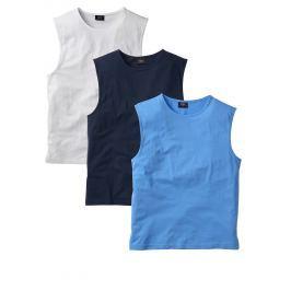 Ujjatlan póló (3 db-os csomag) Regular Fit bonprix