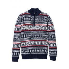 Norvégmintás pulóver Regular Fit bonprix