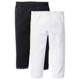 Capri legging csipke szegéllyel (2 db-os csomag) bonprix