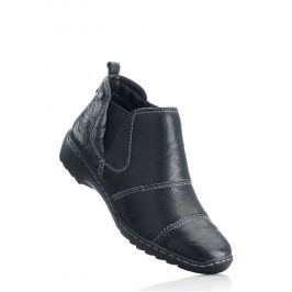 Kényelmes magas szárú bőrcipő bonprix
