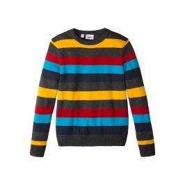 Csíkos kötött pulóver bonprix