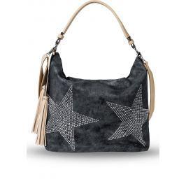 Denim táska strasszköves csillaggal bonprix
