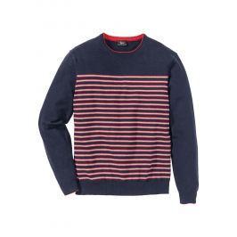 Csíkos pulóver Regular Fit bonprix