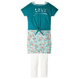 Boxy póló+ruha+legging (3-részes szett) bonprix