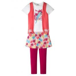 Póló-mellény+szoknya+legging (3-részes szett) bonprix