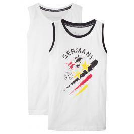 Németország ujjatlan póló (2 db-os csomag) bonprix