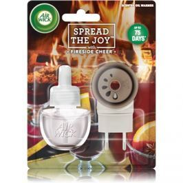 Air Wick Spread the Joy Fireside Cheer elektromos légfrissítő 19 ml töltelékkel