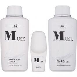 Bettina Barty Classic Musk ajándékszett I.  testápoló tej 500 ml + tusfürdő gél 500 ml + golyós dezodor 50 ml