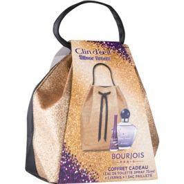 Bourjois Clin d'Oeil Silver Dream ajándékszett I.  Eau de Toilette 75 ml + körömlakk 9 ml + kozmetikai táska 1 ks