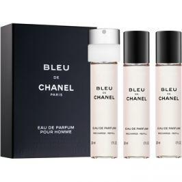 Chanel Bleu de Chanel eau de parfum férfiaknak 3 x 20 ml (3 x utántöltő)