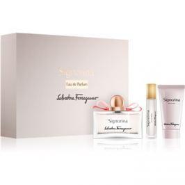 Salvatore Ferragamo Signorina ajándékszett IV.  Eau de Parfum 100 ml + Eau de Parfum 10 ml + testápoló tej 50 ml