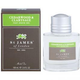St. James Of London Cedarwood & Clarysage borotválkozás utáni gél férfiaknak 100 ml