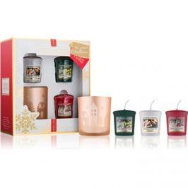 Yankee Candle The Perfect Christmas ajándékszett IV.  votív gyertya 3 x 49 g + votív gyertyatartó