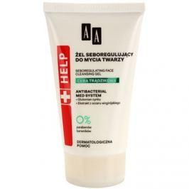 AA Cosmetics Help Acne Skin antibakteriális tisztító gél a faggyú termelődés ellen   150 ml