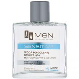 AA Cosmetics Men Sensitive borotválkozás utáni arcvíz hidratáló hatással  100 ml
