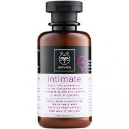 Apivita Intimate finom habzó tisztító gél intim higiéniára  200 ml