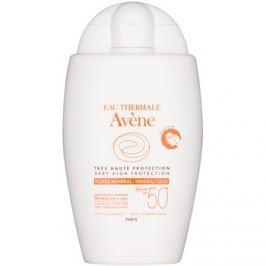 Avène Sun Mineral védő folyadék kémiai szűrőktől mentes SPF50+  40 ml