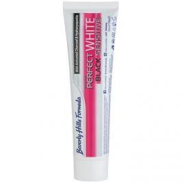 Beverly Hills Formula Perfect White Black Sensitive fogfehérítő fogkrém faszénnel érzékeny fogakra íz Fresh Mint 100 ml