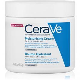 CeraVe Moisturizers hidratáló krém arcra és testre Száraz, nagyon száraz bőrre  454 g