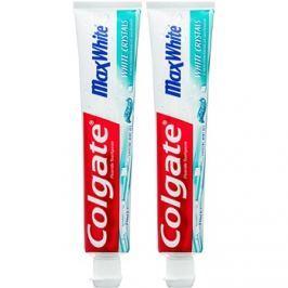 Colgate Max White White Crystals fehérítő géles paszta a friss leheletért íz Crystal Mint 2x75 ml
