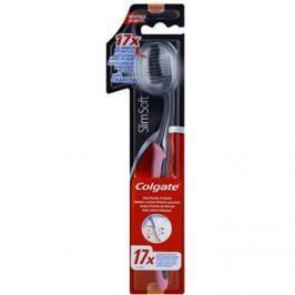 Colgate Slim Soft Charcoal fogkefe aktív szénnel gyenge