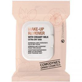 Comodynes Make-up Remover Creamy Milk sminklemosó kendő nagyon száraz bőrre  20 db