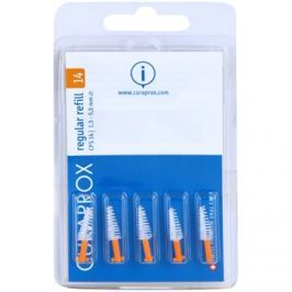 Curaprox Regular Refill CPS tartalék kúpos fogköztisztító kefék a csomagolásban 5 db CPS 14 1,5 - 5,0 mm