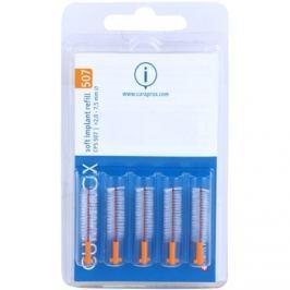Curaprox Soft Implantat CPS Spare Interdental fogkefék az implantátumok tisztítására 5 db CPS 507 2 - 7,5 mm