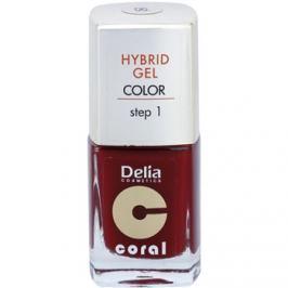 Delia Cosmetics Coral Nail Enamel Hybrid Gel géles körömlakk árnyalat 06  11 ml