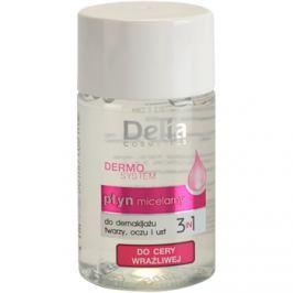 Delia Cosmetics Dermo System micelláris víz a szekörüli területekre és a szájra 3 az 1-ben  50 ml
