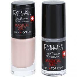 Eveline Cosmetics Nail Therapy Professional géles körömlakk UV/LED lámpa használata nélkül árnyalat 02  2 x 5 ml