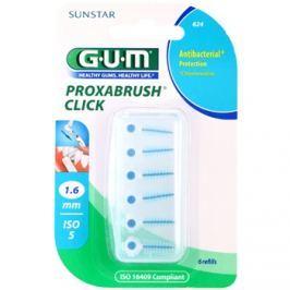 G.U.M Proxabrush Click tartalék fogköztisztító kefe csomagolásban 6 db 1,6 mm (Refills)