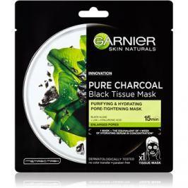 Garnier Skin Naturals Pure Charcoal  fekete textil maszk tengeri alga kivonat  28 g