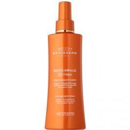 Institut Esthederm Bronz Impulse emulzió spray formában arcra és testre a gyorsabb és intenzívebb barnulásért  150 ml