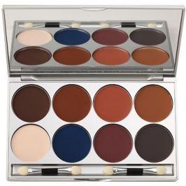 Kryolan Basic Eyes paletta szemhéjpúder 8 szín tükörrel és aplikátorral árnyalat Shading/Matt 20 g