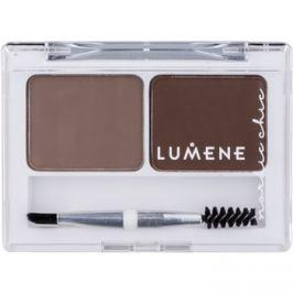 Lumene Nordic Chic paletta a szemöldök sminkeléséhez árnyalat 1 Medium Brown 2 x 1,8 g