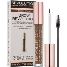 Makeup Revolution Brow Revolution fixáló gél szemöldökre árnyalat Medium Brown 3,8 g