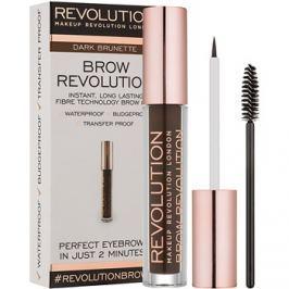 Makeup Revolution Brow Revolution fixáló gél szemöldökre árnyalat Dark Brunette 3,8 g