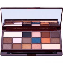 Makeup Revolution I ♥ Makeup I Heart Chocolate szemhéjfesték paletták tükörrel és aplikátorral árnyalat Salted Caramel  22 g