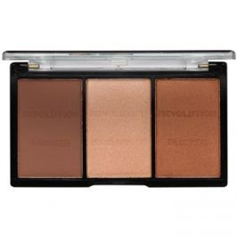 Makeup Revolution Ultra Sculpt & Contour arckontúr paletta árnyalat 04 Ultra Ligt/Medium 11 g