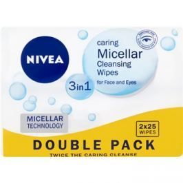 Nivea Micellar tisztító micelláris kendőcskék az arcra 3 az 1-ben  2x25 db