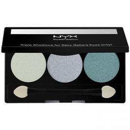 NYX Professional Makeup Triple szemhéjfesték paletták árnyalat 23 Sweet Lagoon/Aqua/Ocean 2,1 g