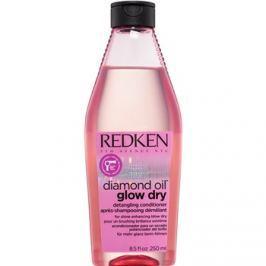 Redken Diamond Oil Glow Dry élénkítő kondicionáló a fényes hajáért és annak konnyen fésüléséért gyorsabb kifújáshoz  250 ml