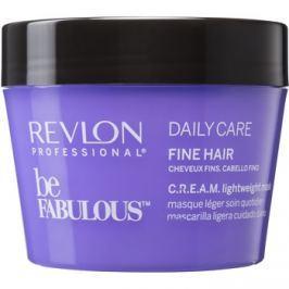 Revlon Professional Be Fabulous Daily Care regeneráló és hidratáló maszk a finom hajért  200 ml