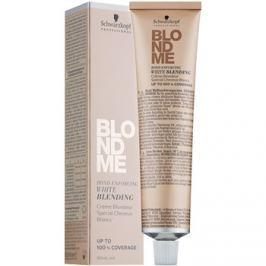 Schwarzkopf Professional Blondme hamvasító krém a fehér hajszálak fedésére árnyalat W - Ice  60 ml