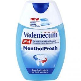 Vademecum 2 in1 Menthol Fresh fogkrém + szájvíz egyben  75 ml