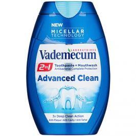 Vademecum Advanced Clean Pro Micellar Technology szájvíz és fogkrém 2 az 1-ben a fogak teljes védelméért  75 ml