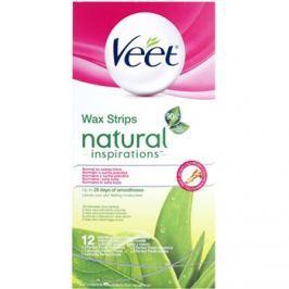 Veet Natural Inspirations szőrtelenítő gyantacsík normál és száraz bőrre  12 db