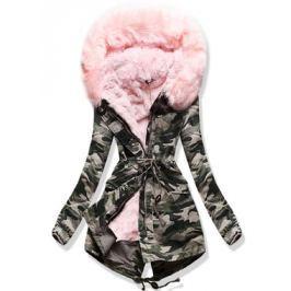 Női téli kabát kapucnival 1813 púderrózsaszín