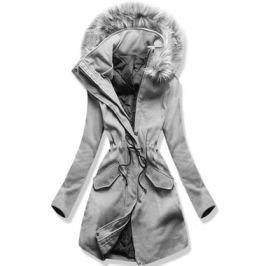 Hosszú női kabát kapucnival 22172 szürke